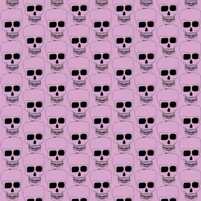small skulls on pink