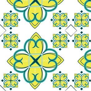 Asian_Pattern_2_Citron Teal