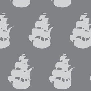 Pirate Ship grey/grey