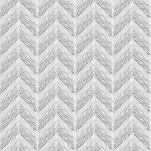Crayon Chevron Aqua Grey Colorway