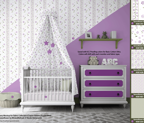 Crayon Chevron Purple Olive