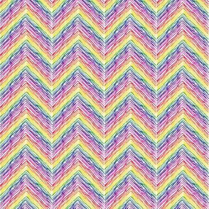 Crayon Chevron Rainbow