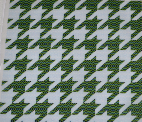 Bargello Houndstooth Blue Green