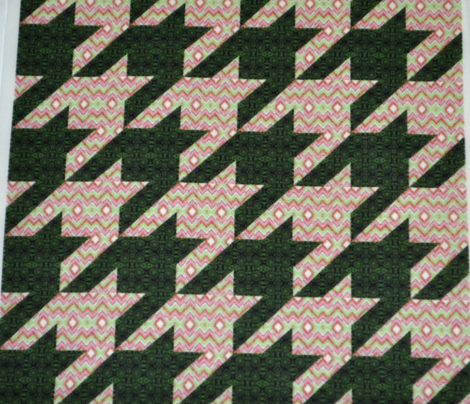 Bargello Houndstooth Pink Christmas