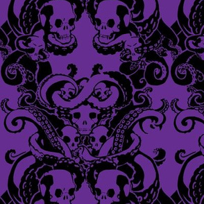 Skull & Tentacle in Hard Violet