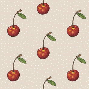 Cherry Handsketch - Kraft Polka
