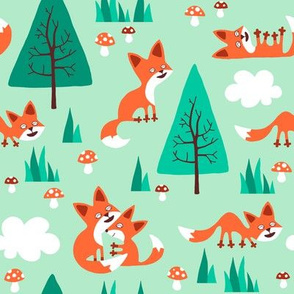 Fox in the woods (small)