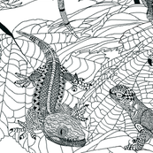 Zentangle Lizards.
