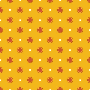 Farmhouse Dots on Yellow