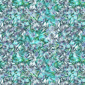 Turquoise + Violet 420 Leaves