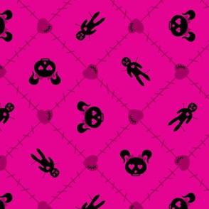 Evil But Cute Voodoo Pink Black