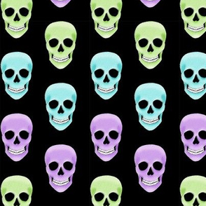 Cool toned skulls