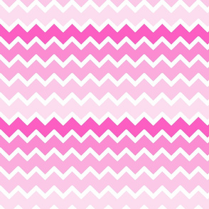 Hot Pink Ombre Chevron Zigzag Pattern