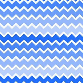 Sky Blue Ombre Chevron Zigzag Pattern