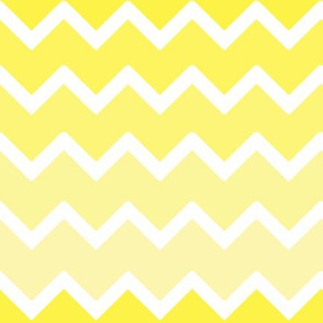 Lemon Yellow Ombre Chevron