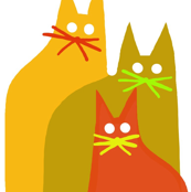 Autumn Cats Trio