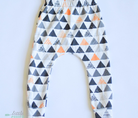 Geometric tribal aztec triangle orange tangerine modern patterns