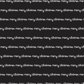 Merry christmas abstract happy holidays theme text design modern trendy typography hand written print in black and white
