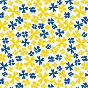Ditsy Clover yellow Blue