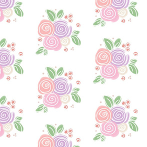 Pastel Floral - White