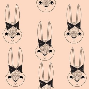 bunny // rabbit bow blush girls sweet rabbit
