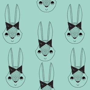 bunny // bunny bunnies bunny rabbit bow mint girls