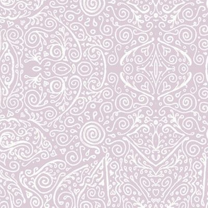 bridal mendhi in pale lilac mauve