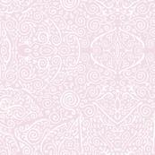 pale pink bridal mendhi