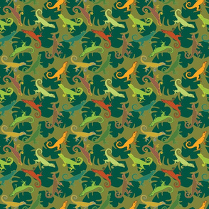 Happy lizards