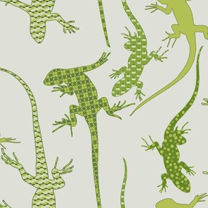 Lizards in Green