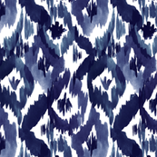 Indigo Blue Ikat Diamonds