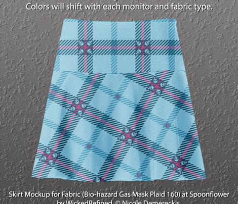 Bio-hazard Gas Mask Plaid 160 Blue Pink
