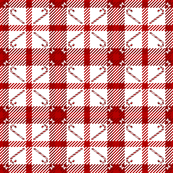 Candy Cane Plaid 233 Red White