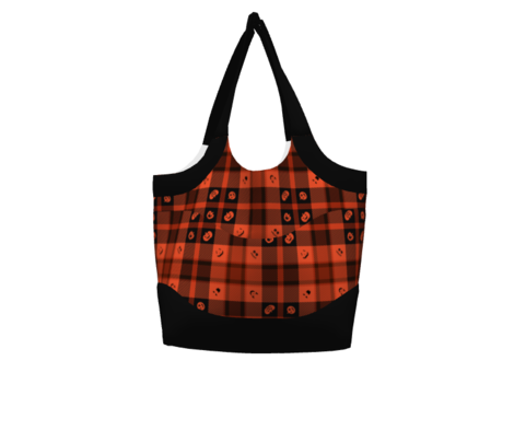 Halloween Pumpkin Plaid 130 Orange Balck