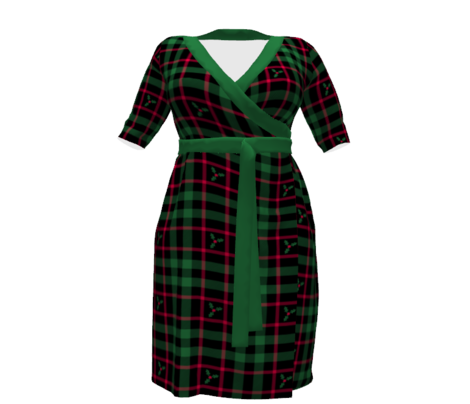 Holly Plaid 227 Black Green Red