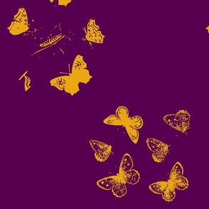 Butterfly Wreaths in Purple