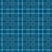 Snowflake Plaid 165 Blue