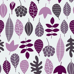 Autumn leaves in purple