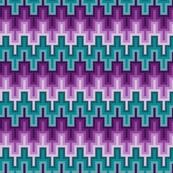 Pixels - Plum and Teal