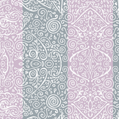 "mendhi stripe - 3"" mauve and cool grey"