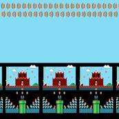 Super Mario Border Print