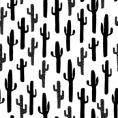 Cactus - Black and White (Small) by Andrea Lauren