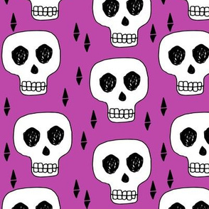 Skull - Purple by Andrea Lauren