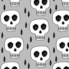 Skull - Slate Grey by Andrea Lauren