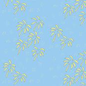 Palms in summer sky