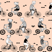 Bears on Bicycles - Blush by Andrea Lauren