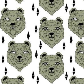 Barney Bear - Artichoke White by Andrea Lauren