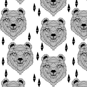 grizzly bear // bear fabric bear head nursery baby design bear fabric