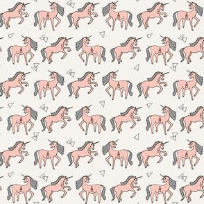 Unicorns in Rows - Pale Pink by Andrea Lauren