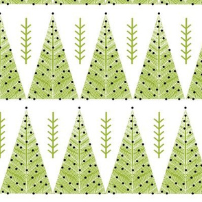 Evergreen Christmas Trees - Lime Green by Andrea Lauren